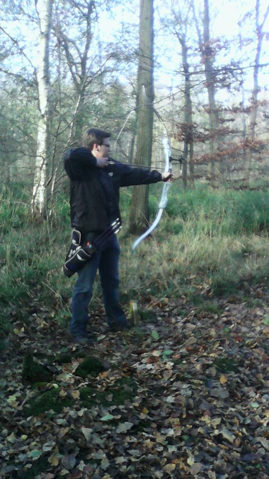 Mathew at Braintree 's 3D Field Shoot.