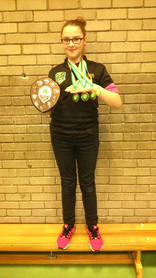 Raven-Corey walked away with 3 Gold medals . 1 for junior girl under 18 recurve in her session and a shield. , 1 for junior under 18 recurve in TWO sessions that she entered, and a gold medal and commemorative plate, for recurve Team gold, along with Sarah Bettles and Shamsul Hussain.