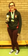 Sarah got Gold medal and trophy for womens recurve and Team gold!