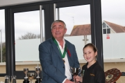 Sophie Pollard receiving the Thelma Davison Cup