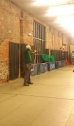 Mr Tom Hall shooting in the barn.