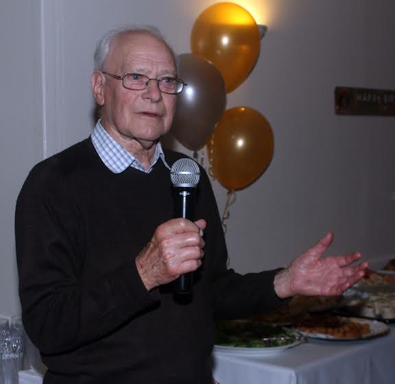 Tom at his 90th birthday party.